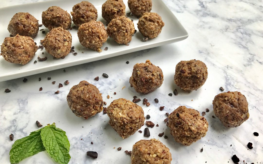 Chocolate Mint Protein Balls